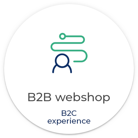B2B webshop with B2C shopping experience