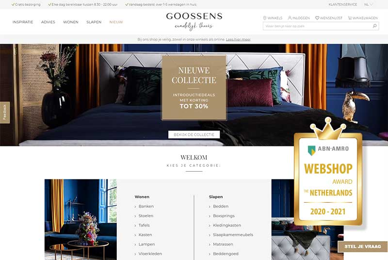 Successful omnichannel strategy from Goossens Wonen & Slapen
