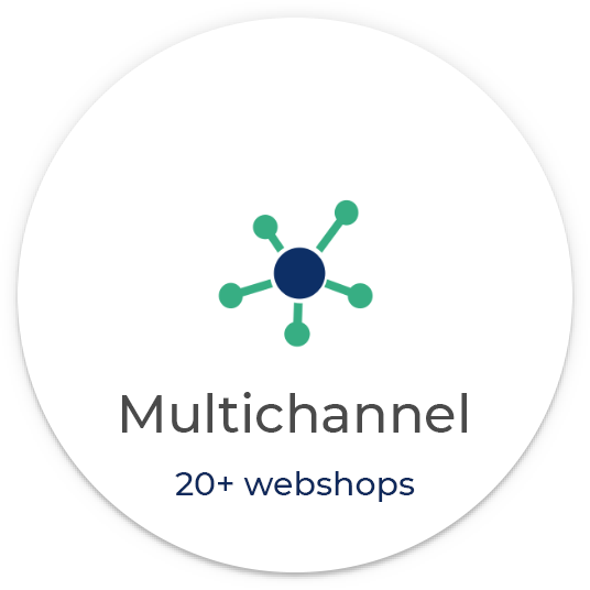 Multichannel with more than 20 webshops